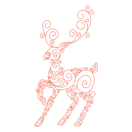 Swirl pattern png. Reindeer silhouette red transparent
