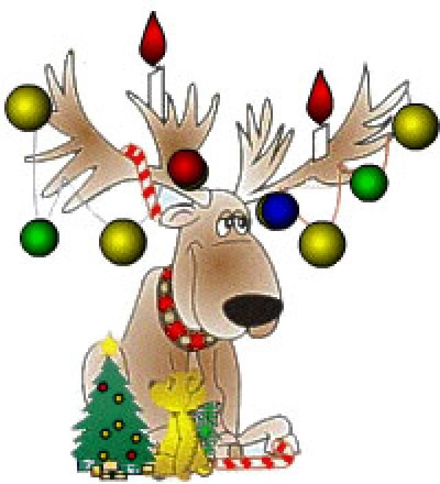 Holidays clipart reindeer. Santa and at getdrawings