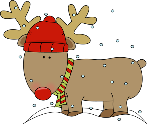 Holidays clipart reindeer. In the snow proyecto