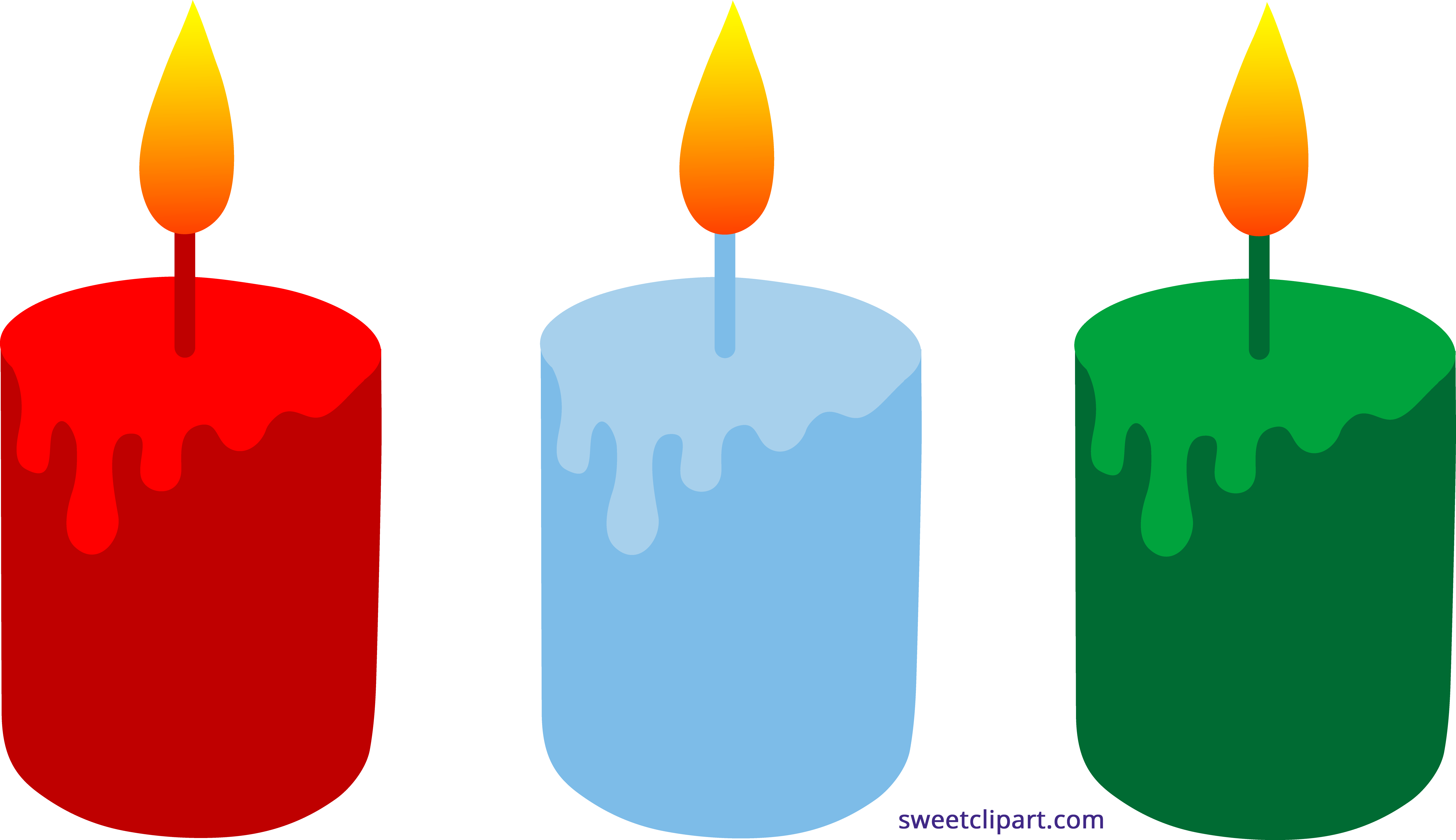 Holidays clipart sweet. Christmas candles trio clip
