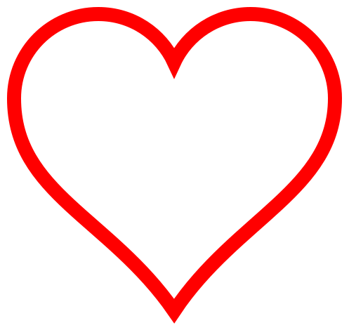 Hollow heart png. Image