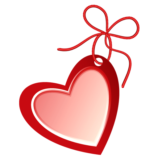 Hollow heart png. Image royalty free stock