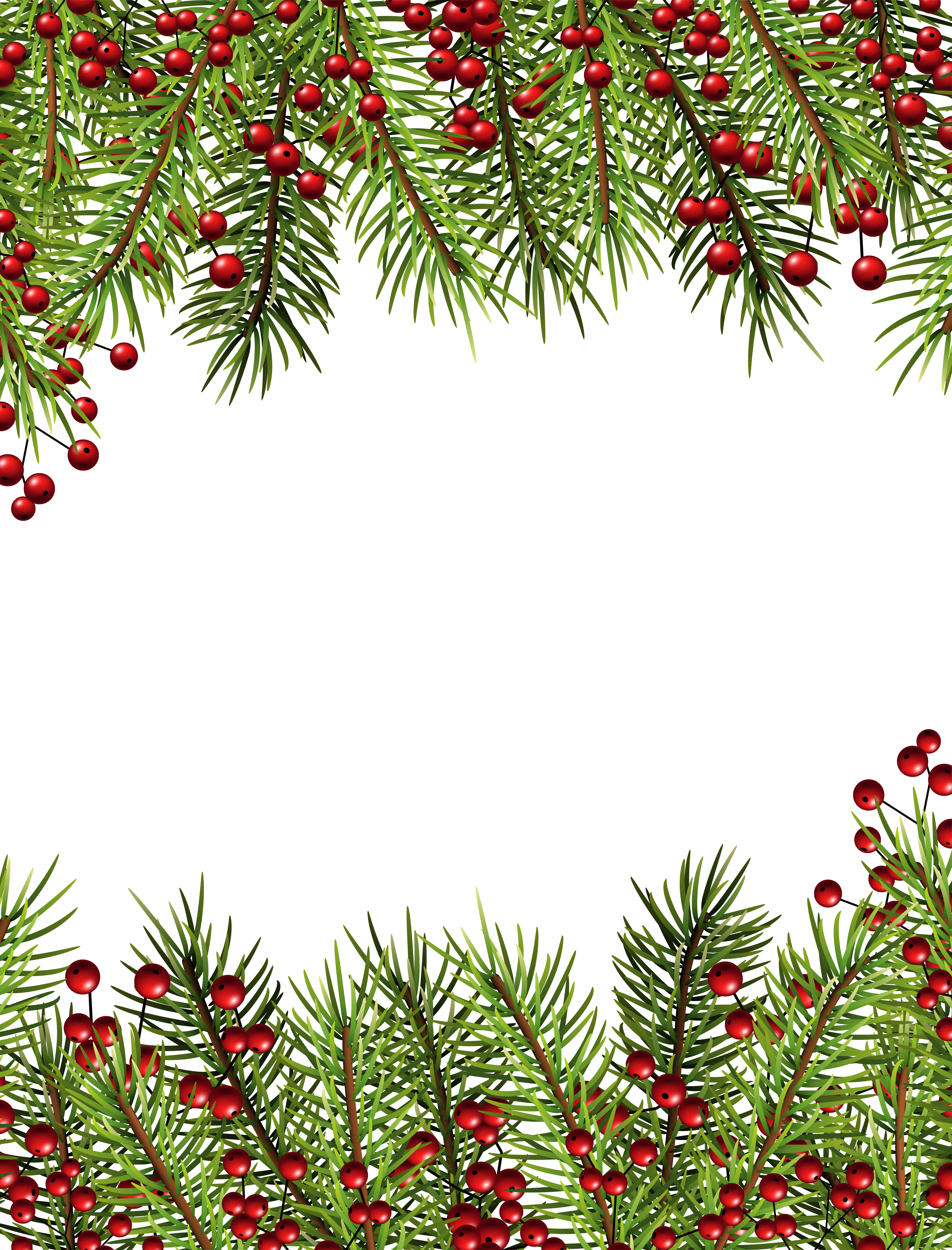 Holly border png. Christmas transparent frame gallery