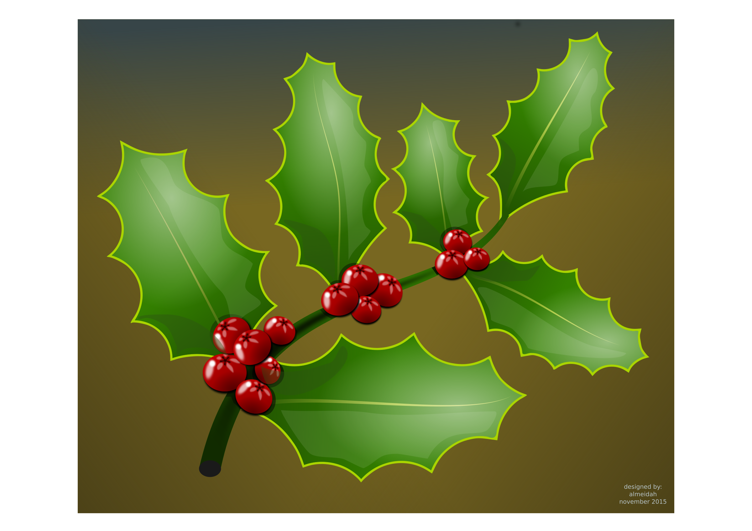 Holly branch png. Clipart big image