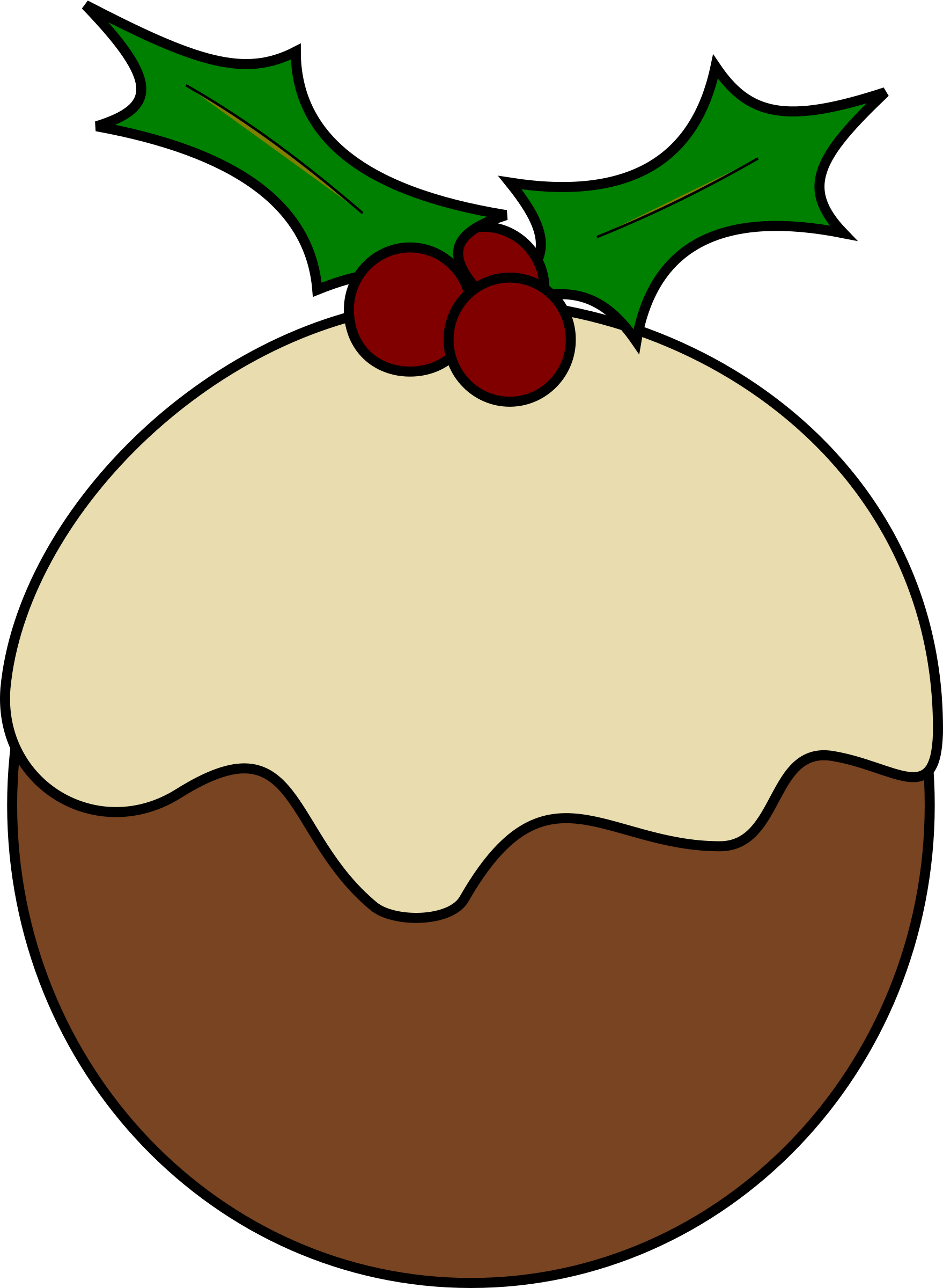 Holly clipart easy. Christmas pudding big image