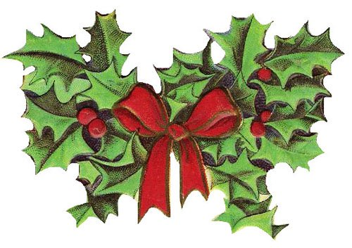 Free christmas vintage. Holly clipart holly plant clip art transparent stock