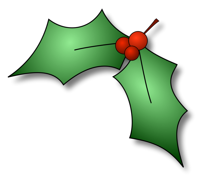 Small clipart holly. Christmas