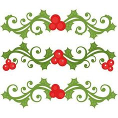 Holly clipart svg. Flourishes scrapbook title christmas