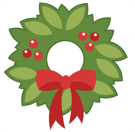 Holly clipart svg. Christmas wreath cutting files