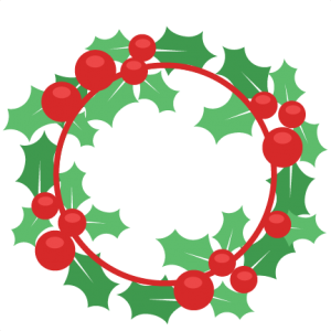 Christmas wreath scrapbook cut. Holly clipart svg banner freeuse