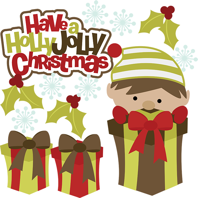 Holly clipart svg. Have a jolly christmas