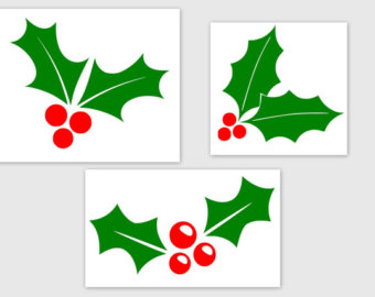 Holly clipart svg. Etsy and berries pdf