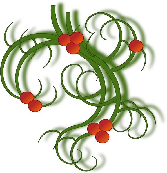 Christmas swirls clip art. Greenery vector border picture royalty free library