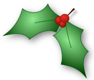 Holly leaf png. Leaves corner holiday christmas