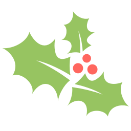 Holly leaf png. Icon flat christmas iconset