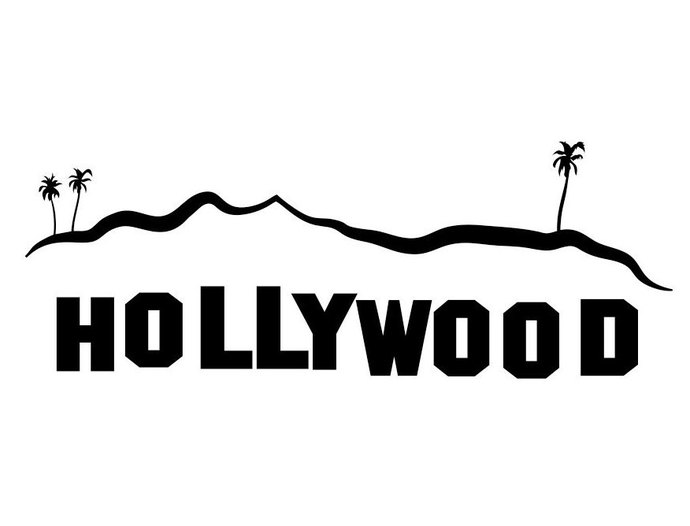 Hollywood clipart. Sign los angeles graphics
