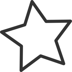 Hollywood clipart black and white. Star