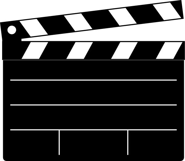 Hollywood clipart clap board. Clapper clip art vector
