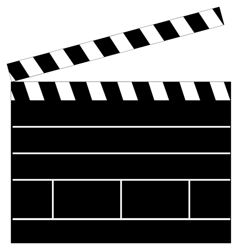 Hollywood clipart clap board. Clapboard template clapper clip