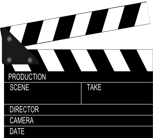Hollywood clipart film slate. Clip art movie clapper