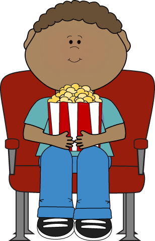 Hollywood clipart hollywood kid. Watching movie rocks theme