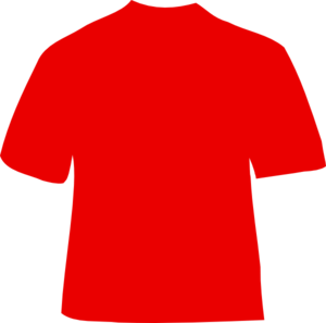 Red download. Shirt clipart football shirt jpg black and white library