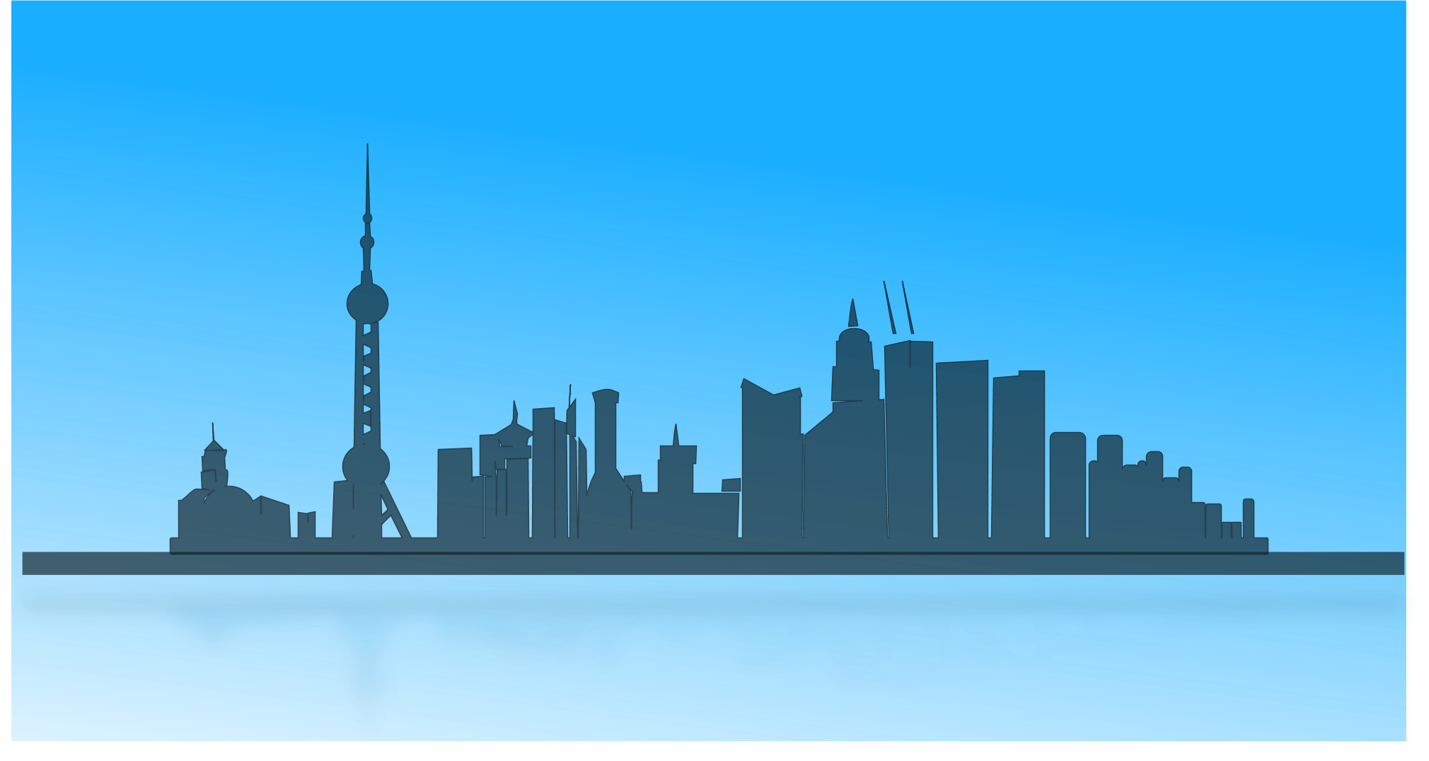Seattle vector city scape. Free hollywood cliparts download