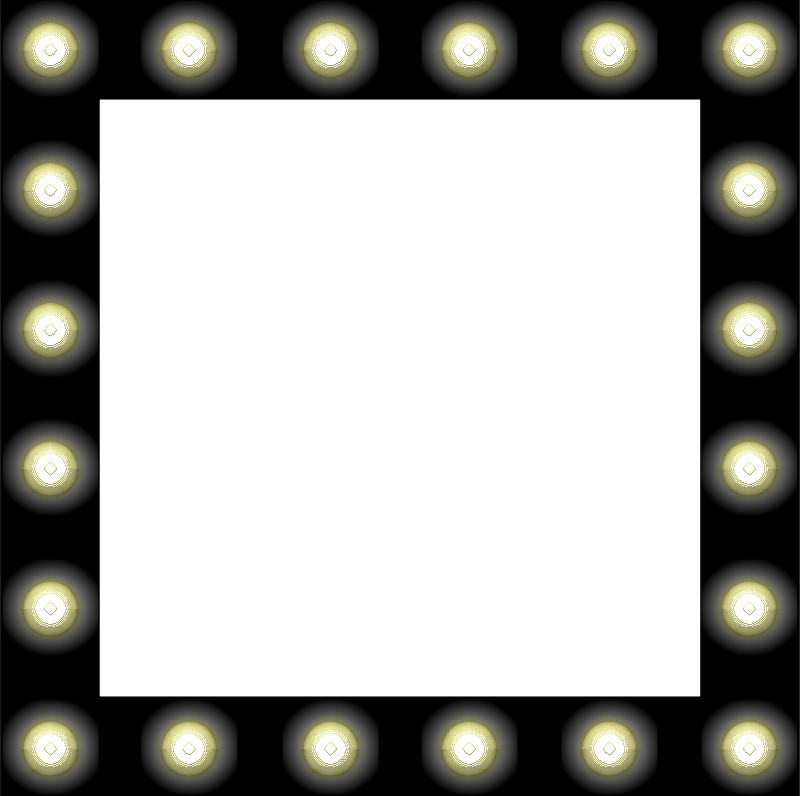 marquee clipart dressing room light