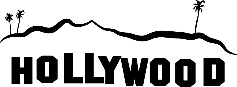 Bolywood clip vector. Hollywood sign png images