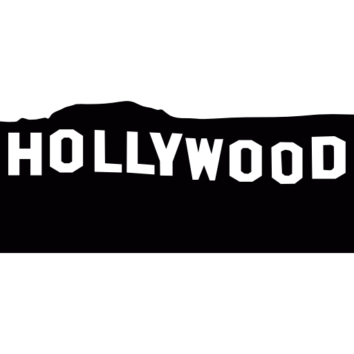 Hollywood sign png. Free cinema icons icon