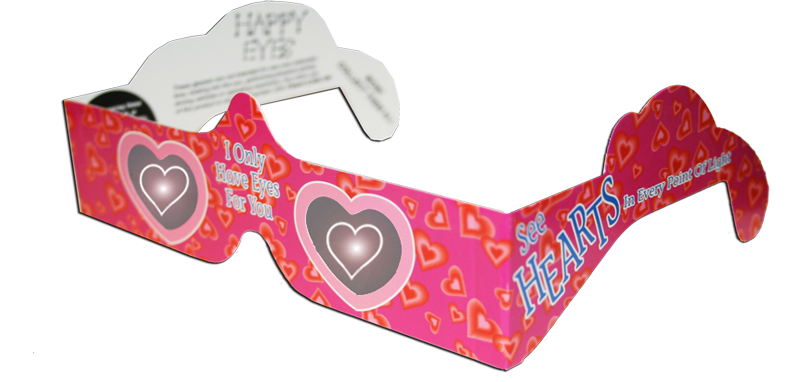 Holographic heart png. Hearts happy eyes american