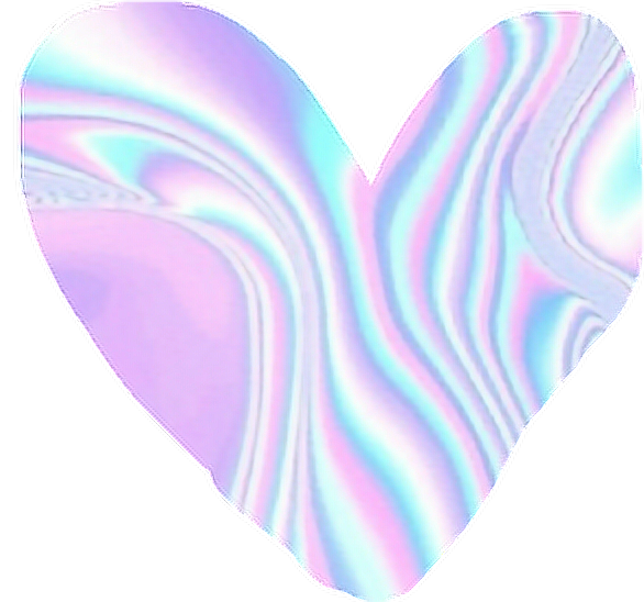 Holographic heart png. Cute aethetic loveheart purple