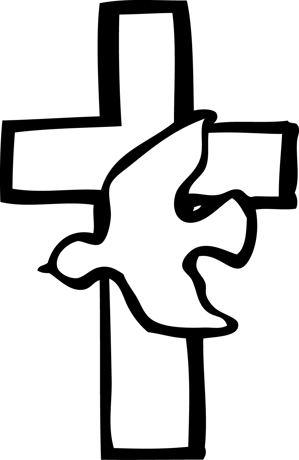 Spirit cross . Holy clipart graphic black and white stock