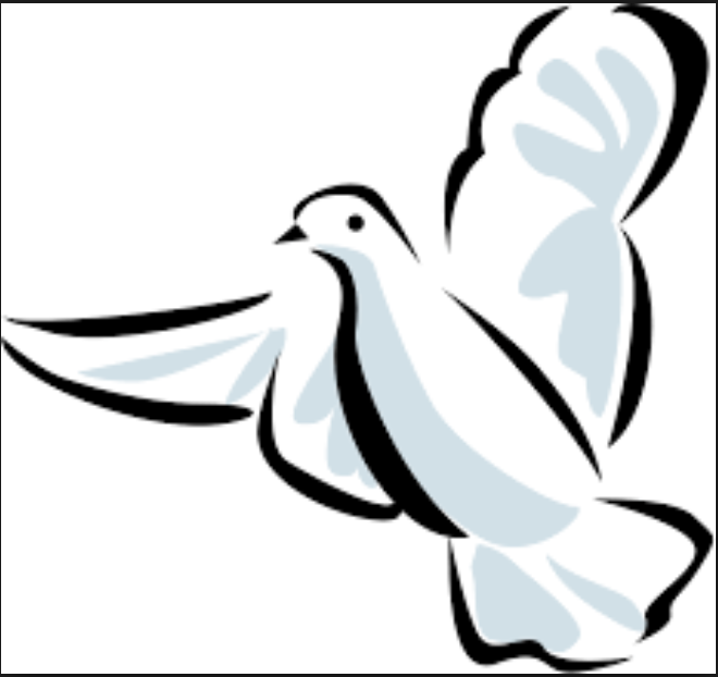 Maundy clipart spiritual peace. Holy spirit dove silhouette