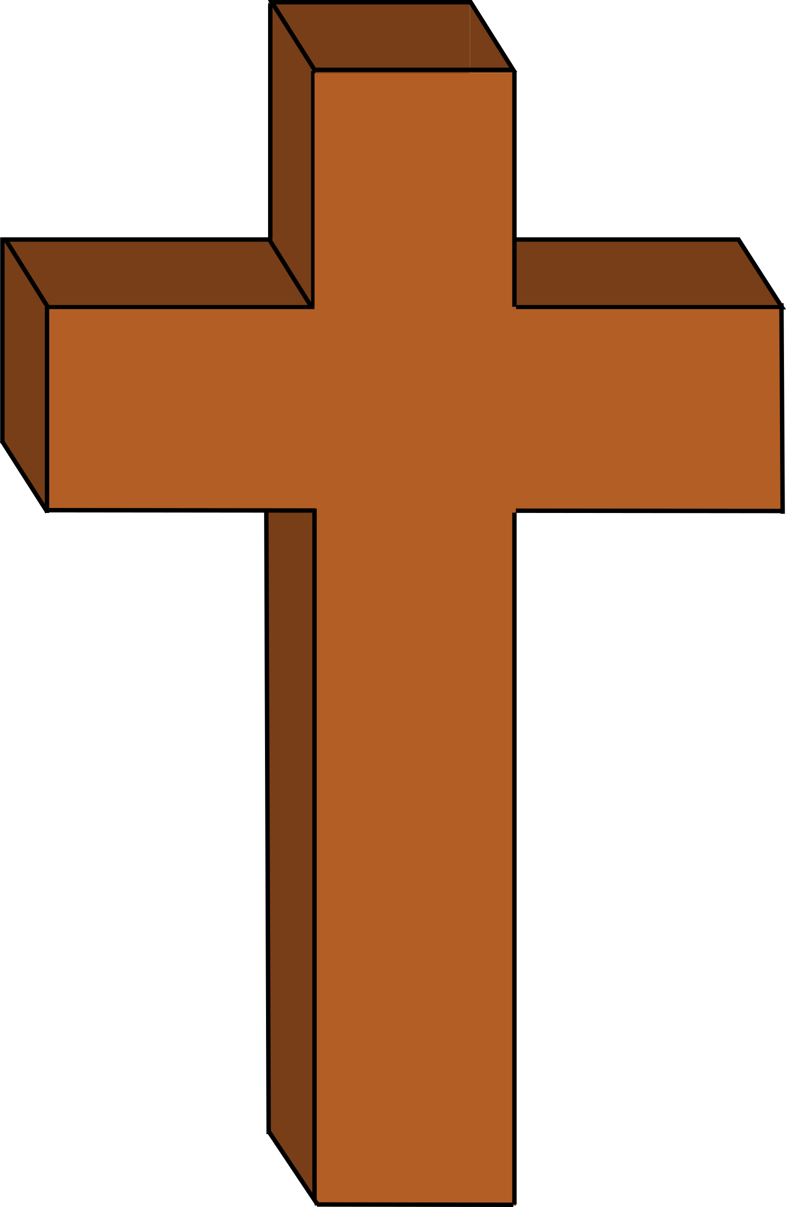 Cross clipart. Free cliparts brown download