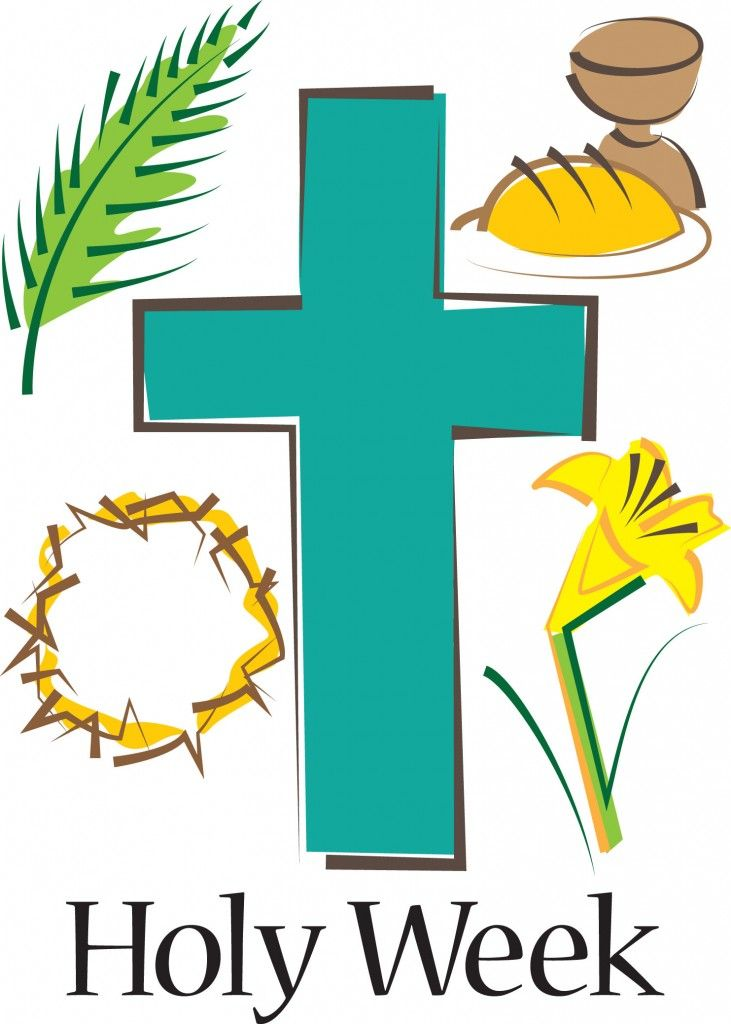 Lent clipart holy thursday. Week happy easter day