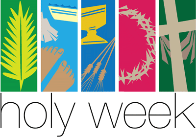 Easter . Holy week clipart graphic black and white stock