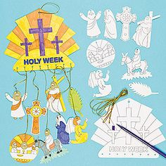 Holy week clipart colour. Free sequencing cards from