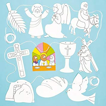 Holy week clipart colour. Baker ross in card