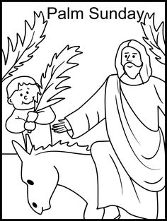 Holy week clipart colour. Free palm sunday coloring