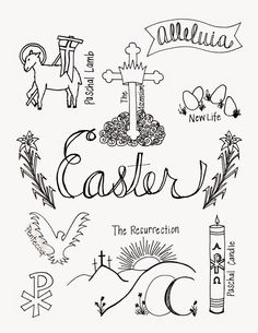 holy week clipart colour
