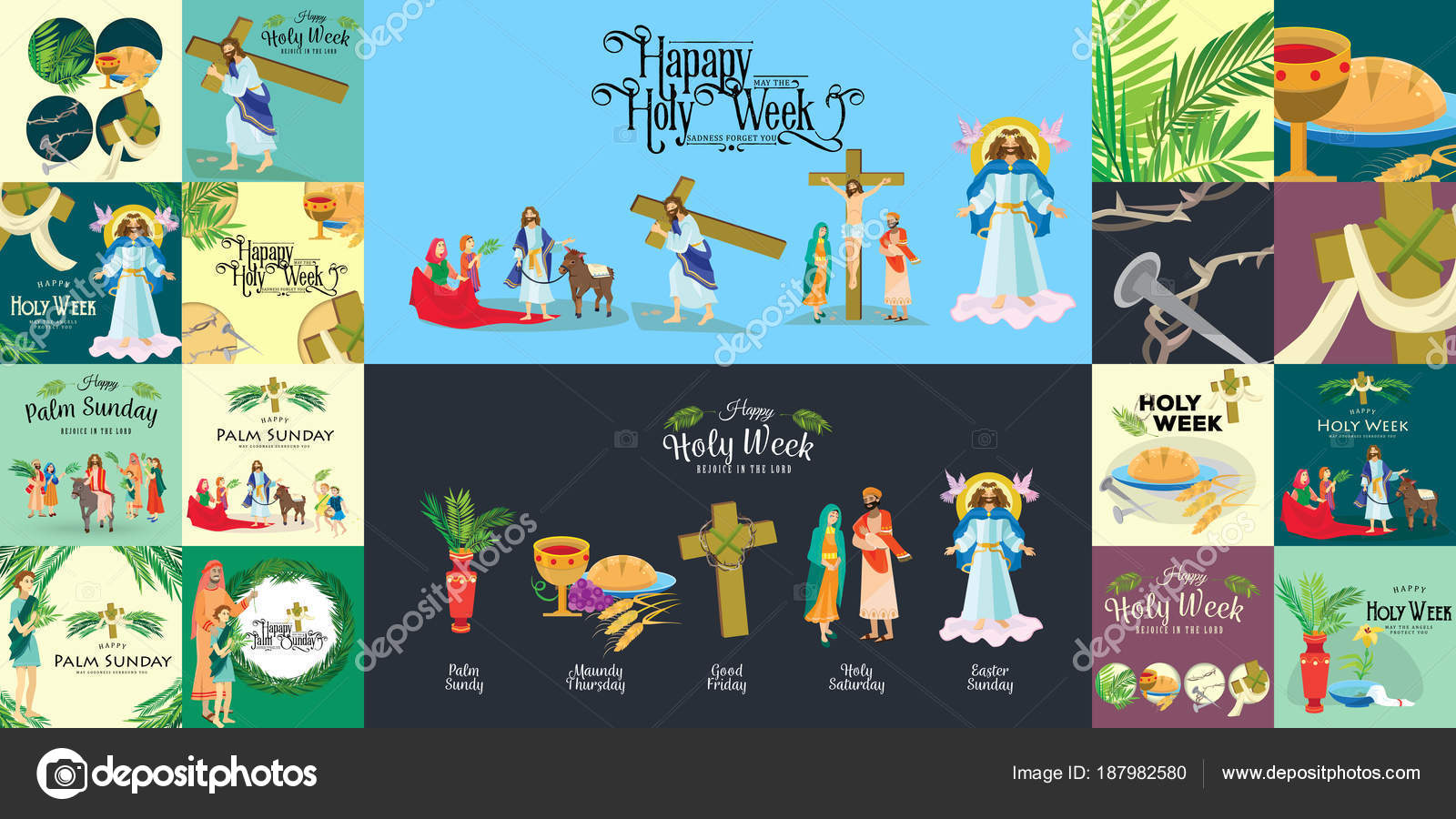 Holy week clipart crown thorns. Set for christianity before