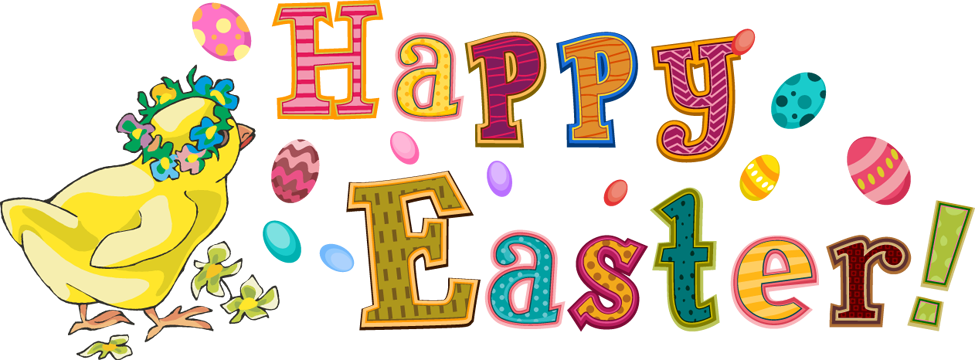 Happy easter clipart border.