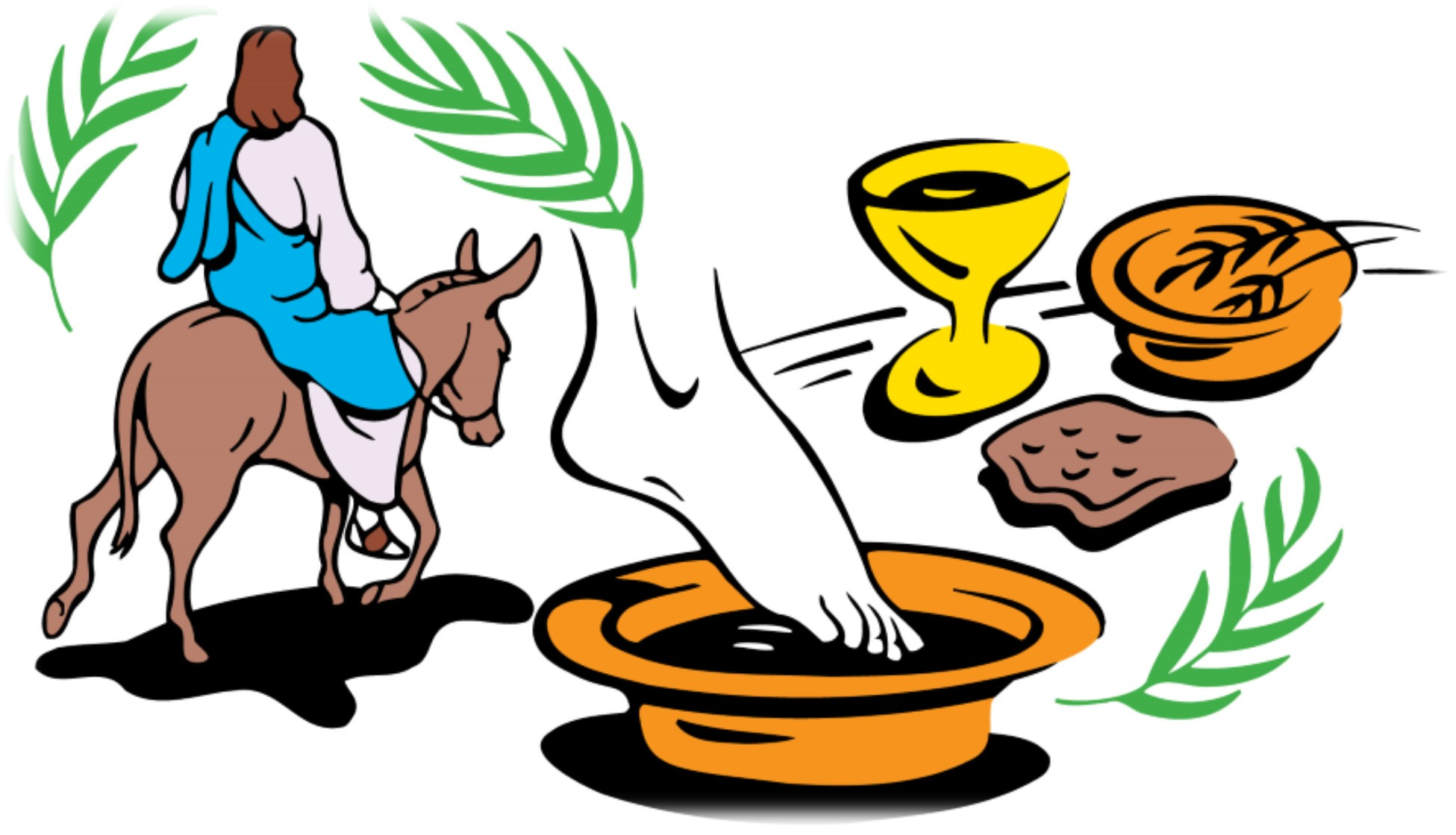 Holy week clipart happy. Wednesday in walking together