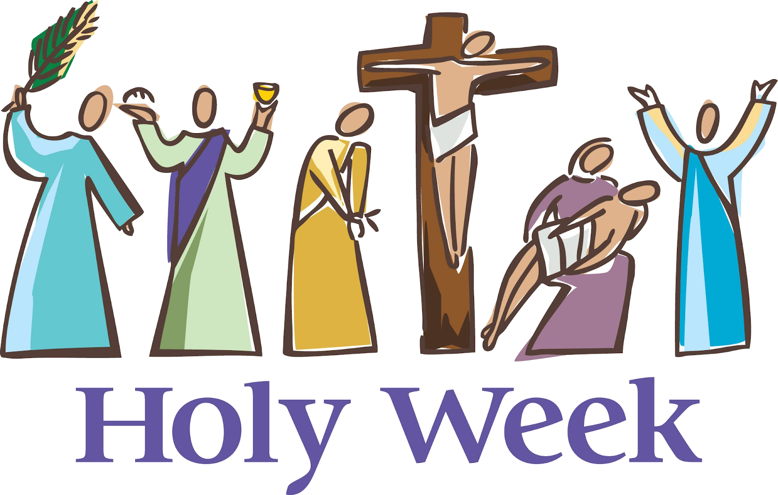 Holy week clipart jesus passion. Living water blessed a