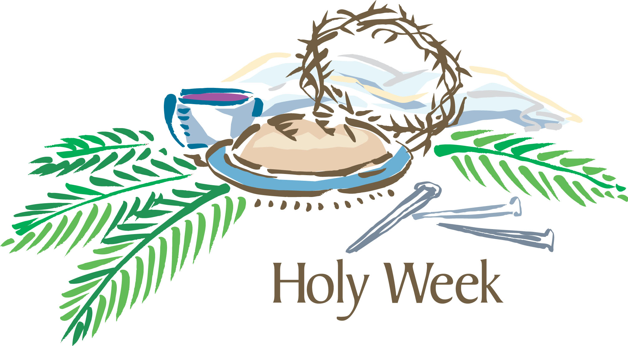 Holy week clipart lent symbol. Christ the king lutheran
