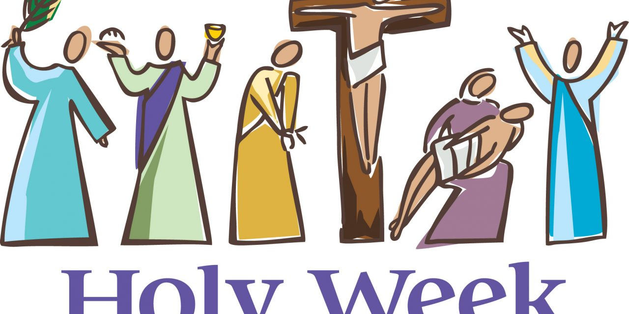 Holy week clipart. Schedule lake park lutheran