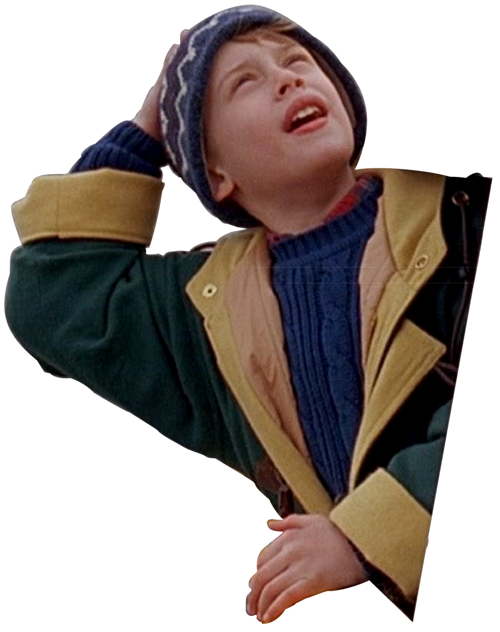 Home alone kid png. Lost in new york
