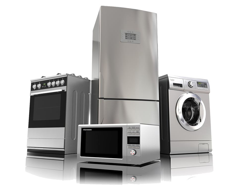 Transparent electronics home appliance. Appliances png quality