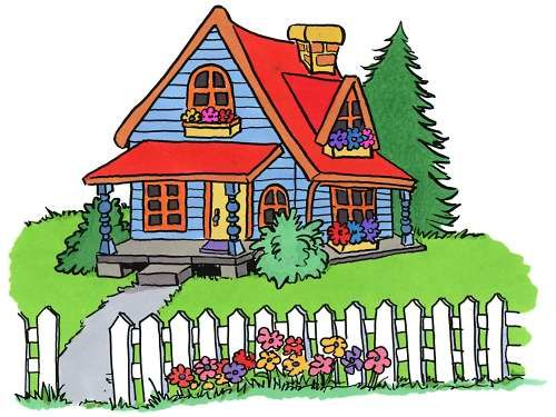 Pics for cartoon clip. Cottage clipart cottage house vector freeuse download
